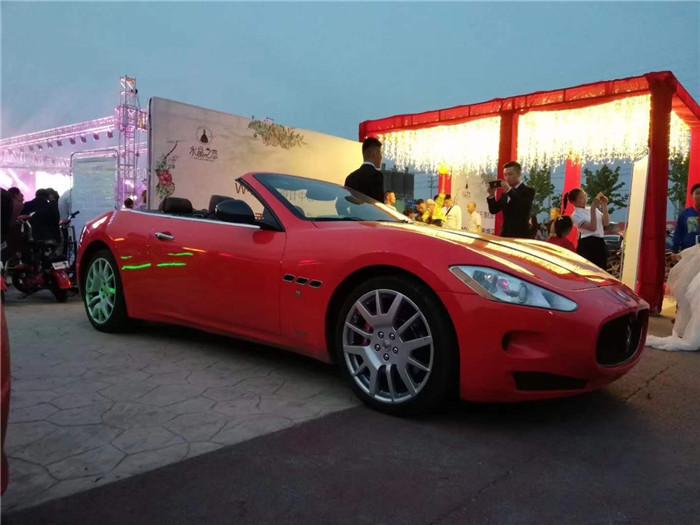 红色玛莎拉蒂吉博力,总裁,gt ,gtc ,莱万特等玛莎拉蒂全系婚车2018年