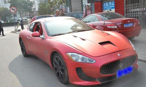 合肥高档婚庆用车:安徽玛莎拉蒂GT4坐红色跑车租赁